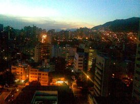 A view of my home city, from a window of the Hospital de Clinicas Caracas in San Bernardino -- western Caracas