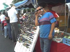 Caraqueños are fun -- this guy saw me taking pictures and demanded to model with sunglasses on