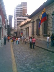 Downtown Caracas, next to the Liberator, Simon Bolivar's childhood home - 2007