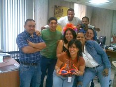 Farewell party from co-workers at the Venezuelan Dept. of Industry & Commerce (2007)